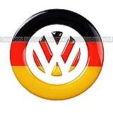 VW フォルクスワーゲン ステアリング ロゴ 3D デコレーション シール ドイツ国旗