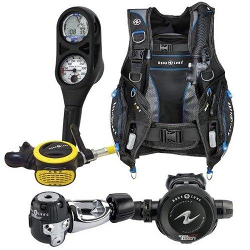 Aqua Lung Pro HD BCD i300 Dive Computer Titan / ABS Regulator Set