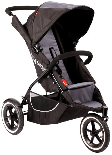 Phil  &  Teds Classic Inline Pushchair + Double Kit - Black - 0m+