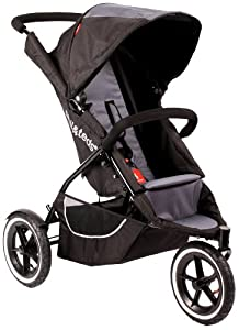 Phil and Teds Classic Stroller, Black/Charcoal (Discontinued by Manufacturer)