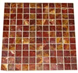 for a bathroom tile that works as well on the floor as it does along the wall this sheet of meshed tile has the ability to get the job done