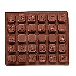 Buytra Silicone Alphabet Cake Mold Fondant Mold Silicone Sugar Craft Molds Chocolate Mold