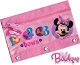 Disney Minnie Mouse Bowtique Zippered Pencil Case Pouch for 3 Ring Binder