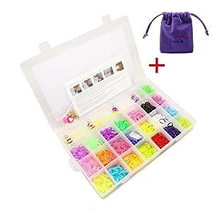 Bande de caoutchouc Kit bandes de Loom colorées pour DIY de Bracelet