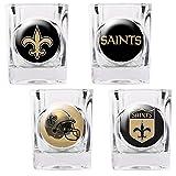 Bsi Products NFL New Orleans Saints 4 Piece Shot Glass Set
