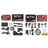 Online V2.47 EU Red Kess V5.017 OBD2 Manager Tuning Kit KTAG V7.020 4 LED Kess V2 5.017 BDM Frame K-TAG 7.020 ECU Programmer (Kess EU Red V2.47 + Ktag EU Red 4 LEDs)