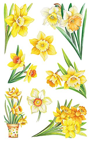Avery Zweckform adesivo decorativo, narcisi In carta 16 Aufkleber Campane pasquali