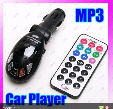 Wireless In Car Fm Transmitter With Remote (New Black)