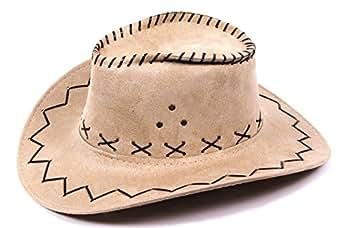 chapeau de cowboy Wild West Western pour enfant ou ados beige