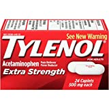 Tylenol Acetaminophen Extra Strength Caplets, 500 mg, 24 Count