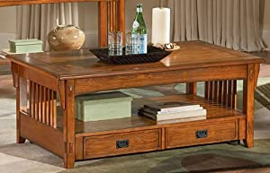 Steve Silver Kellogg Rectangle Ash Wood Lift Top Coffee Table