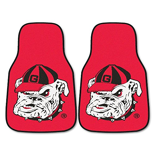 FANMATS NCAA University of Georgia Bulldogs Nylon Face Carpet Car Mat (Georgia Car Mats compare prices)