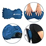 Accmart Self Inflating Travel Pillow for Car Airplane Camping Office Use Blue