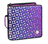 Case-It Large Capacity 3-Inch Zipper Binder, Purple Print (D-145-PPL-P)