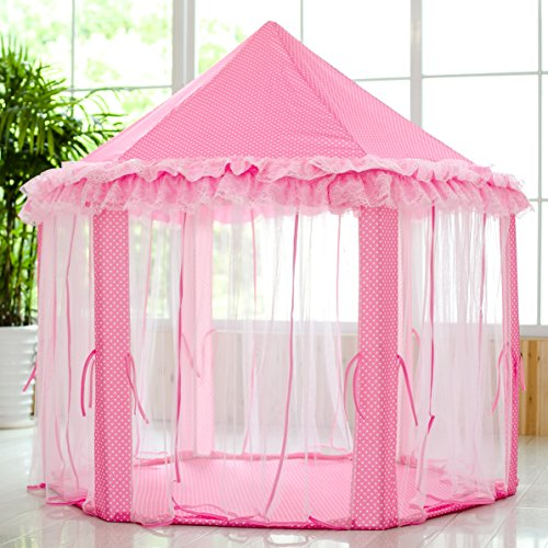 Home ...  sc 1 st  Epic Kids Toys & SkyeyArc Princess Castle Play Tent Kids Indoor Playhouse With 34 ...