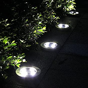 Solar Lights Outdoor Ground Lights, Water-resistant Path