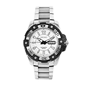Click to buy Seiko Watches for Men: SKZ269 Superior Stainless Steel White Dial Watch from Amazon!