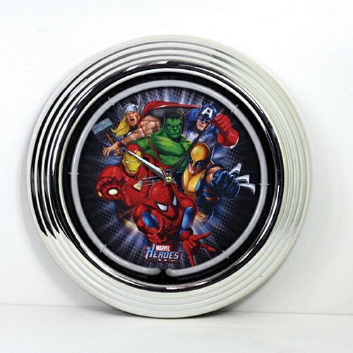 Marvel Comics: Heroes Group Neon Clock