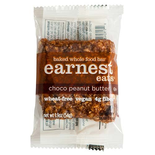 Earnest Eats 100% All-Natural Wheat-Free & Vegan Chewy Baked Energy Bars With Whole Nuts, Fruits, Seeds And Grains - Choco Peanut Butter - (Case Of 12)
