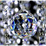 2PCS/lot 40mm Crystal Faceted Balls Crystal Glass Fengshui Hanging Suncatcher Prism Balls