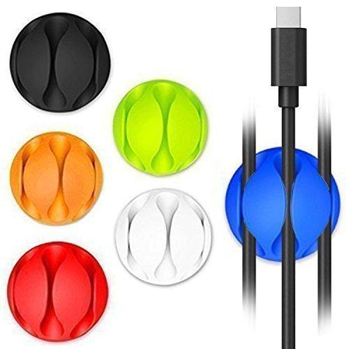 [6 pack] Nouveaux Colorful Paquet Clips câble, un cordon Kollea Multipurpose Fil Attache de câble intelligent Organisateur pour Apple périphériques