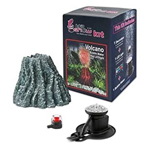 Hydor H2Show Volcano Kit with Red LED and Bubbles