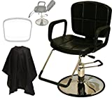 LCL Beauty Reclining Hydraulic All Purpose Cutting & Shampoo Barber Salon Chair