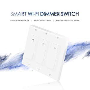 Smart Light Switch,Vaticas 100-240V Smart WIFI Light Switch,Compatible with Alexa,Google Home and IFTTT, With Remote Control and Timer,No Hub required Applicable to Family and Office(3 Gang White) (Color: (3 gang))