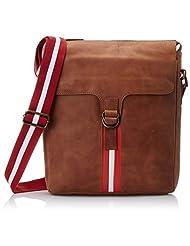 Bosa Leather Multi-Color Cross Body Bag (B-009TANRED)