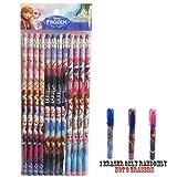 Disney Frozen Wood Pencils 12 and 1 Eraser