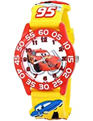 "Disney Kids' W001509 ""Time Teacher"" 3D Cars Watch With Yellow Plastic Band"