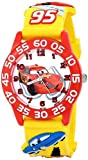 Disney Kids' W001509 Time Teacher 3D Watch with Yellow Plastic Band