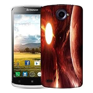 Snoogg Solar Eclipse Designer Protective Phone Back Case Cover For Lenovo S920