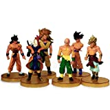 Always - Lot de 6 pcs de AF figurines en PVC de Dragonball Dragon ball avec support - hauteur de 11cm -14 cm -...
