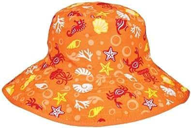Baby Banz Chapeau De Soleil Reversible Protection Rayons Du Soleil - Orange