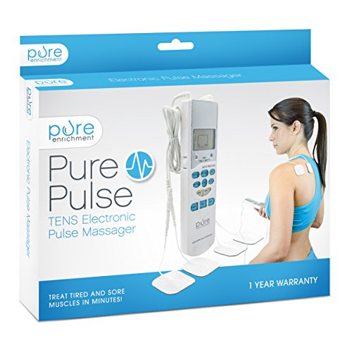 PurePulse Electronic Pulse Massager - Portable, Handheld Tens Unit Muscle Stimulator for Pain Management (Pure Electronic Pulse Massager compare prices)