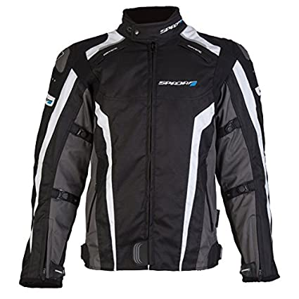 Nouveau Spada moto Textile veste Corsa GP étanche Blk/gris/blanc