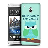 Head Case Green Wing Mean Owl Protective Hard Back Case Cover For Htc One Mini
