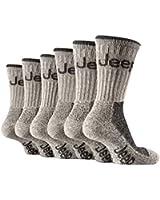 6 Pairs Of BOYS Jeep Terrain cushion sole walking Hiking Socks