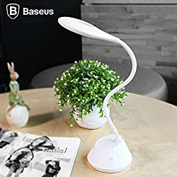 BASEUS Bluetooth Music Desk Lamp Brand Mulight Series Csr 4.0 Wireless Bluetooth Speaker + LED Table Lamp 2 in 1 Combination