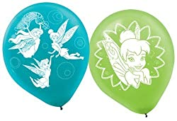 Amscan Tinker Bell Best Friends Fairies Printed Latex Balloons, Multicolor