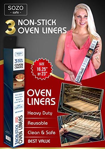 3 Oven Liner - Non Stick Teflon - SOZO Safe - Size 16.25