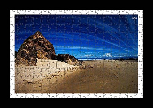 puzzle-style-pre-assembles-imprimer-mur-de-rock-on-sandy-beach-by-lisa-loft