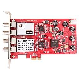 TBS®6905 PCI Express DVB S2 Quad Tuner Digital Satellite TV Card for Window/ Linux/ HTPC/IPTV Streaming Server