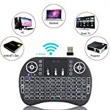 FotoFo Mini Wireless 2.4G Backlit Touchpad Keyboard with Mouse for PC / Mac/ Android TV BOX/ TV Box