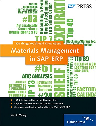 Materials Management in SAP ERP: 100 Things You Should Know About... (Sap Master Data Management compare prices)