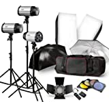 Neewer 900W-3X300W Lighting Photography Studio Strobe Flash Light Kit