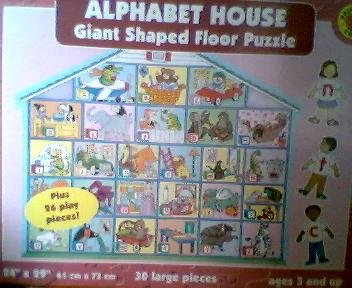 Cheap brighter child Alphabet House Giant Shaped Floor Puzzle (B0029ADFW4)