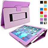 Snugg iPad 3 & 4 Case - Smart Cover with Flip Stand & Lifetime Guarantee (Purple Leather) for Apple iPad 3 and 4