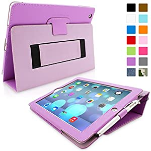 Snugg™ iPad 2 Case - Smart Cover with Flip Stand & Lifetime Guarantee (Purple Leather) for Apple iPad 2
